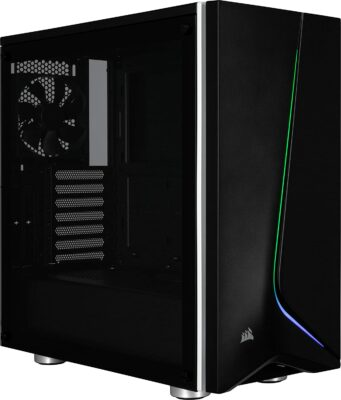 Immagine di Corsair Carbide SPEC-06 RGB Case da Gaming, Mid-Tower ATX, con Vetro Temperato, Nero