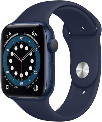 Immagine di Di nuovo disponibile: Apple Watch Serie 6 (GPS, 44mm) con cassa in alluminio e cinturino Deep Navy (Blu)