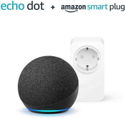 Immagine di Nuovo Echo Dot (4ª generazione) – Antracite + Amazon Smart Plug (presa intelligente con connettività Wi-Fi), compatibile con Alexa