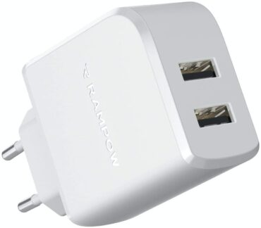 In Offerta RAMPOW Caricatore Quick Charge USB 24W – 12 W/2,4 A